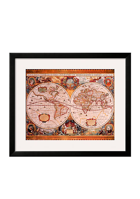 Art.com Antique Map, Geographica, c. 1630 Frame Art