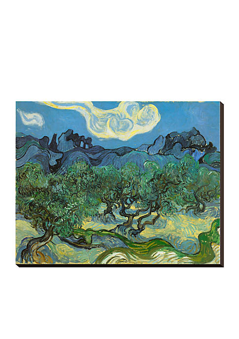 Art.com Landscape with Olive Tree Stretched Canvas Print