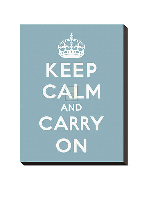 Art.com Keep Calm and Carry on Stretched Canvas