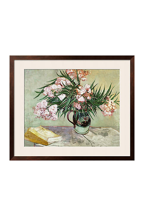 Art.com Vase with Oleanders and Books, c.1888 Framed