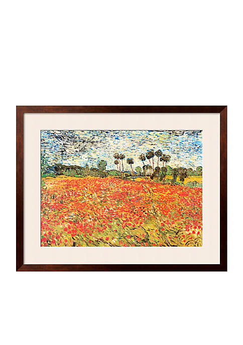 Art.com Field of Poppies, Auvers-Sur-Oise, c.1890, Framed Art