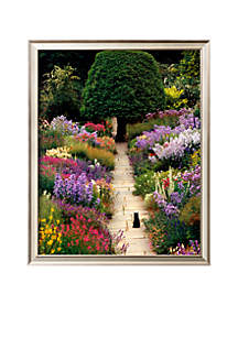 The Garden Cat Framed Art Print - Online Only