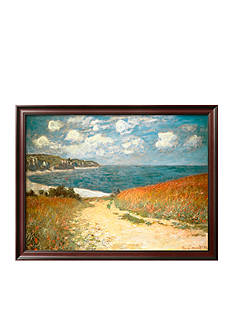 Art.com Path Through the Corn at Pourville, c.1882, Framed Art Print - Online Only<br>
