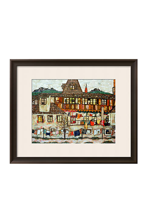 Art.com House with Drying Laundry, 1917 Framed Giclee