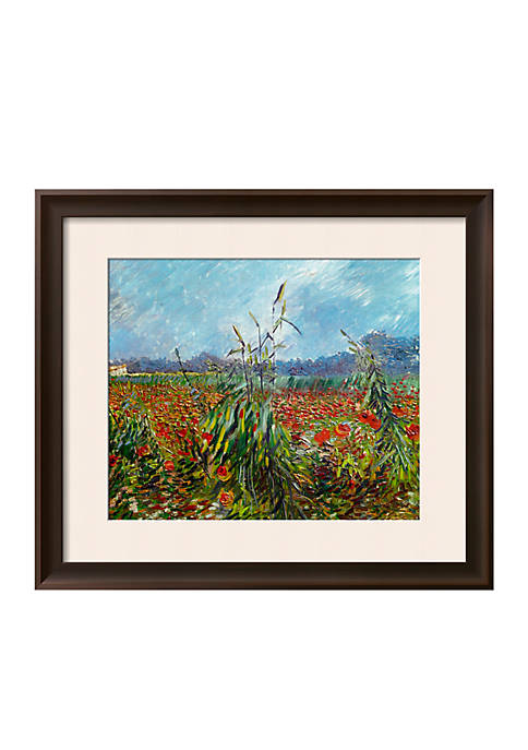 Art.com Field with Poppies Framed Giclee Print Online