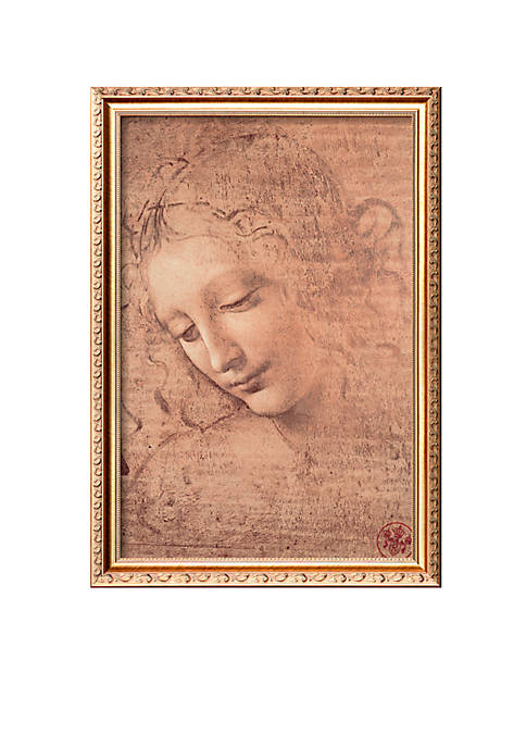 Art.com Female Head (La Scapigliata), c.1508 Framed Giclee