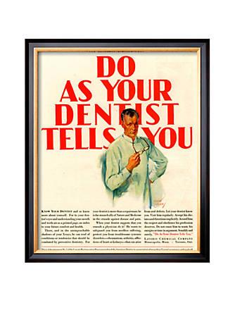 Art.com Dentists Lavoris do as Your Dentist Tells You, USA, 1920 ...