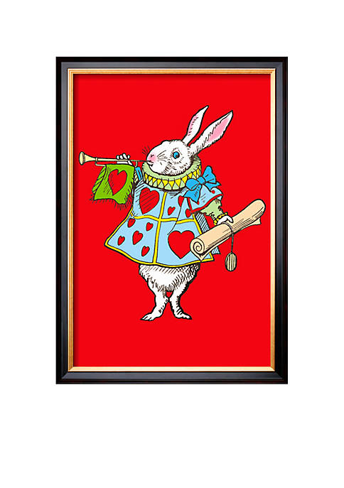 Art.com Alice in Wonderland: Horn and Hearts Framed