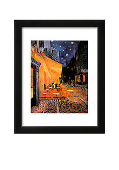 Art.com The Caf Terrace on the Place du Forum, Arles, at Night, c.1888, Framed Art Print - Online Only<br>