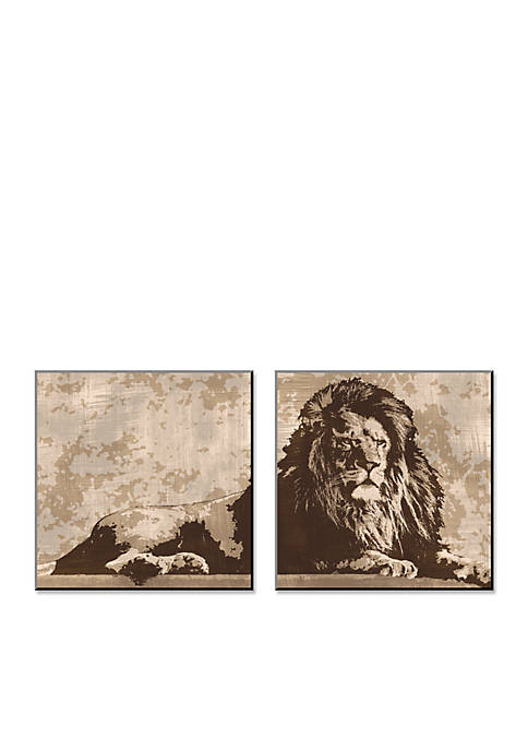 Art.com Lion, Wood Mount,- Online Only