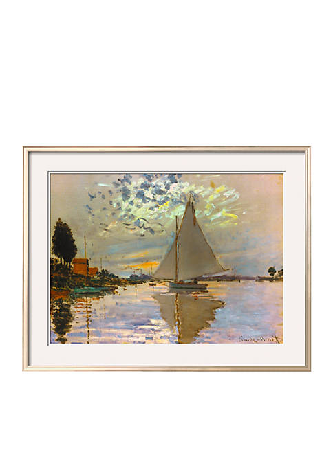 Art.com Monet: Sailboat by Claude Monet, Framed Giclee