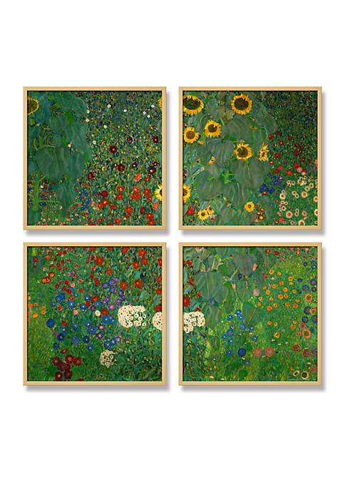 Art.com Farm Garden with Sunflowers, c.1912, Framed Art