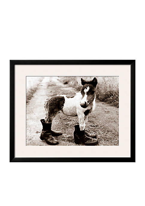 Art.com Adult Horse with Giant Boots, Framed Photographic