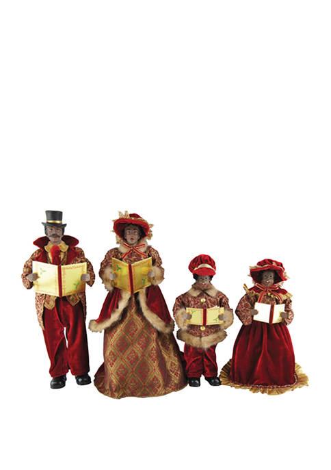 Set of 4 Holiday Carolers
