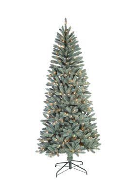 Santas Workshop 7.5 Foot Blue Spruce Slim Tree