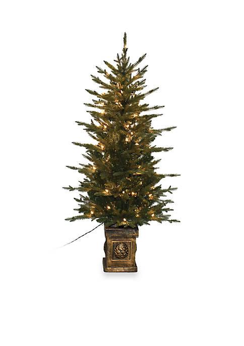 Santa's Workshop 4.5 ft Balsam Potted Pre-Lit Tree