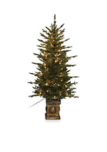 4.5 ft Balsam Potted Pre-Lit Tree