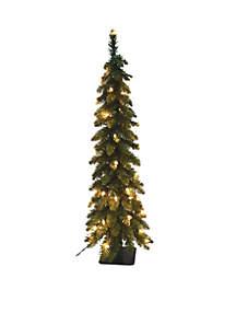 5 ft Pencil Slim Green Fir Artificial Christmas Tree
