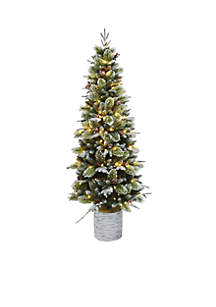 6.5 ft Entree Tree With Birch Pot