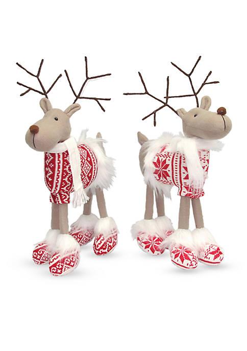15-inch Good Cheer Standing Reindeer