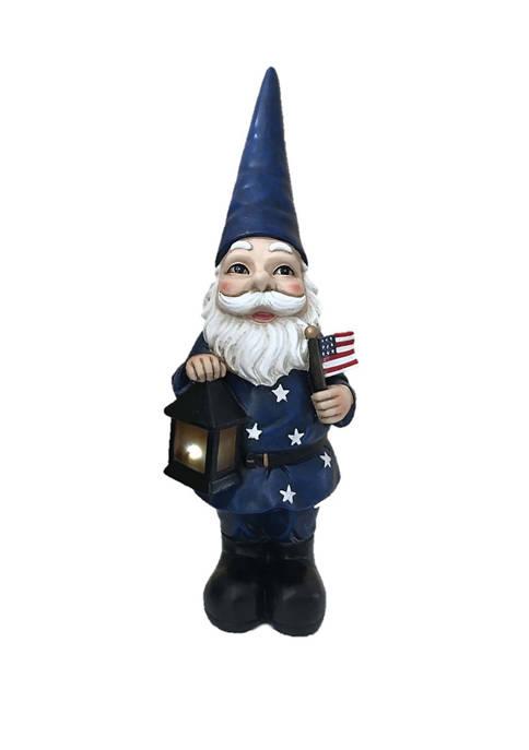 Santa's Workshop 18 Inch Resin Solar Gnome with