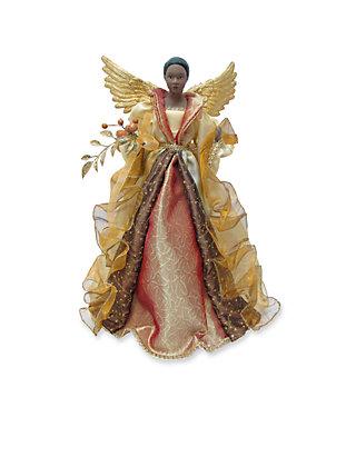 Santas Workshop 16 In African American Gold Angel Tree Topper