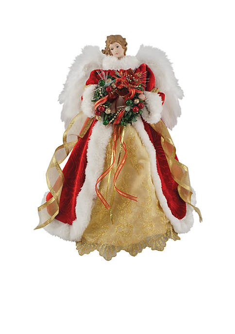 Santa's Workshop Fiber Optic Christmas Angel Tree Topper ...