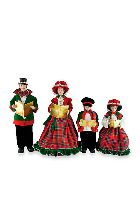 Santa's Workshop Christmas Day Carolers, Set of 4