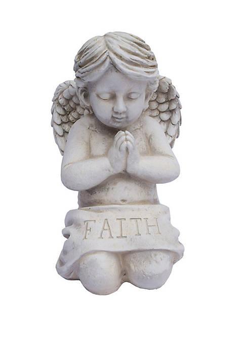 Santa's Workshop 19 in Kneeling Faith Statue