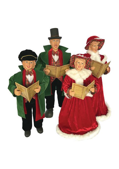 Set of 4 Medium Dickens Carolers