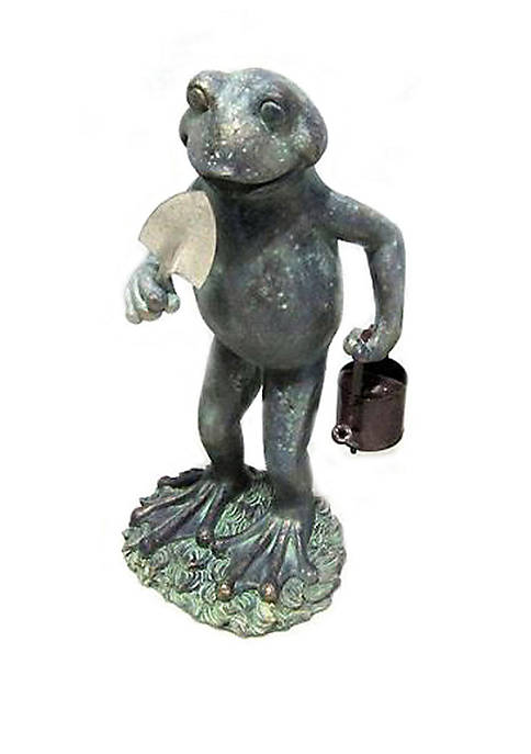 9.5 in Frog Digging Statue