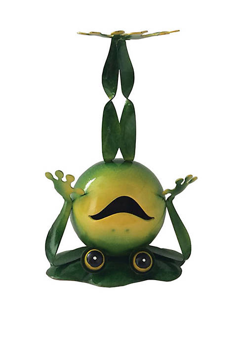 10 in Frog On Head Figurine