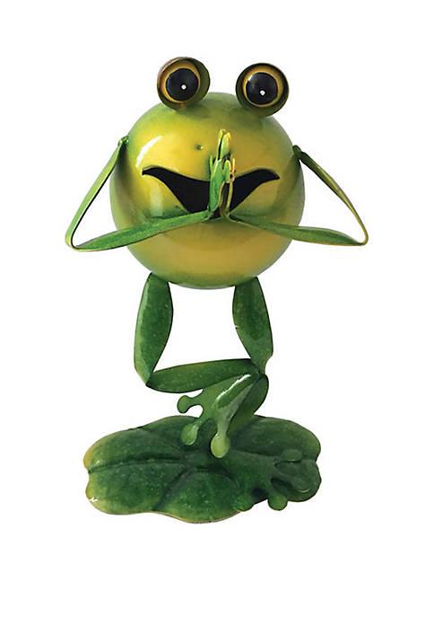 Santa's Workshop 10 in Yoga Frog Figurine