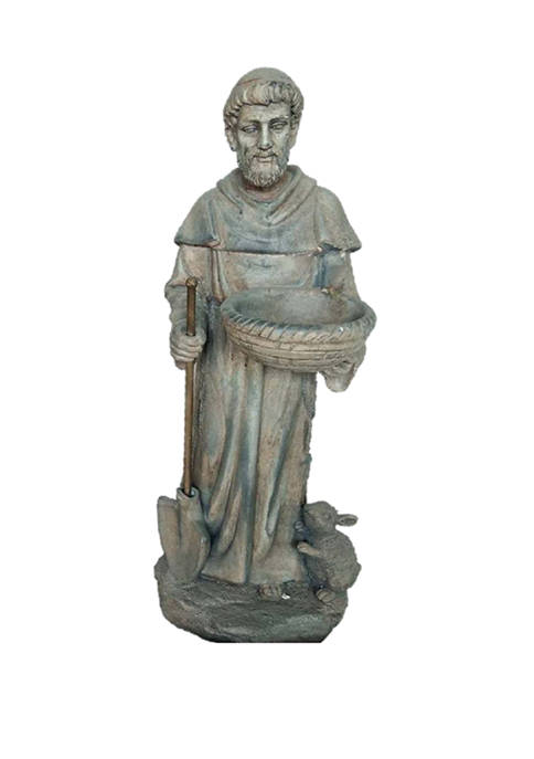 Santa's Workshop 29 Inch Cold Cast Saint Fiacre