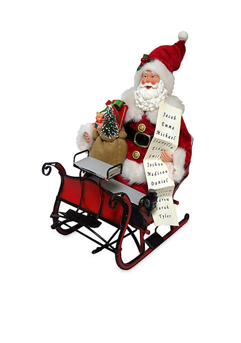 "Santa's Workshop 12"" Santa in Old Fashioned Sleigh"