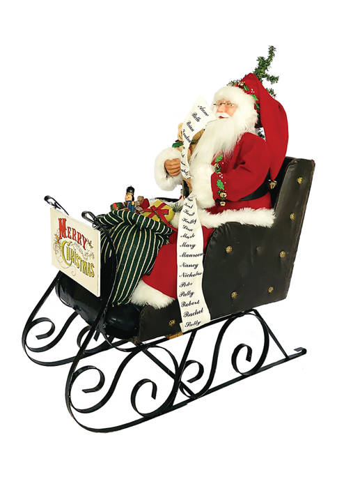 Large Merry Christmas Sleigh