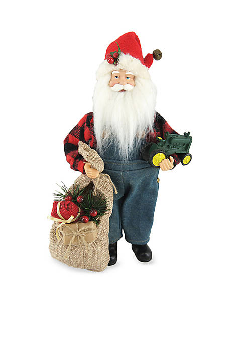 Santa's Workshop 12-Inch Farmer Santa
