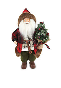 12-Inch Woodman Santa