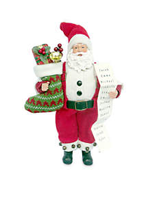 12-Inch Santa Stocking Full Of Gifts