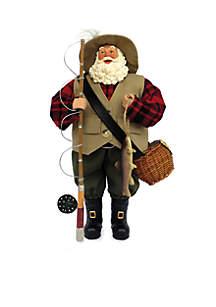 12-in. Fly Fishing Santa