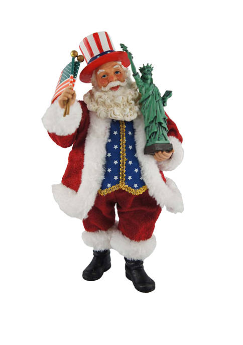 10 inch Uncle Sam Santa