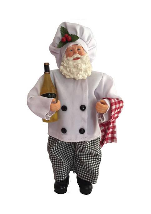 Santa's Workshop 12 Inch Cooking With Wine Santa
