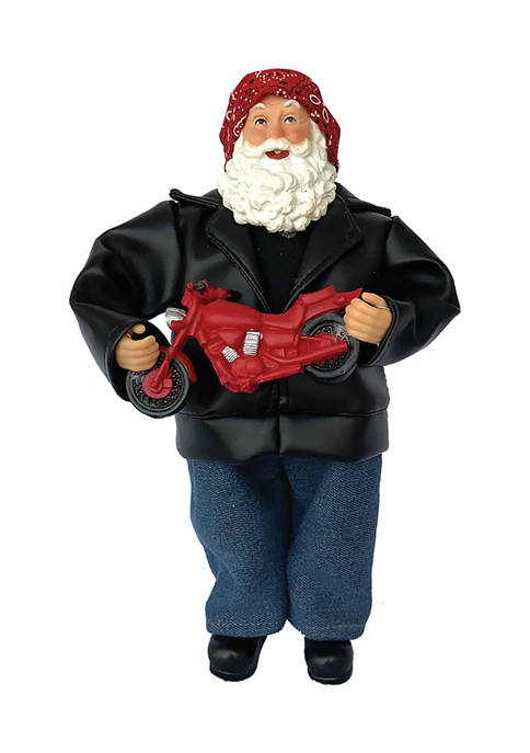 Santa's Workshop 12 Inch Motorcycle Santa