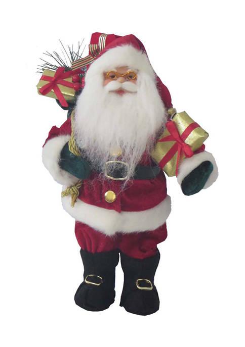 12 Inch Red Velvet Claus