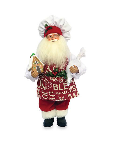 Santa's Workshop 15-inch Gingerbread House Santa