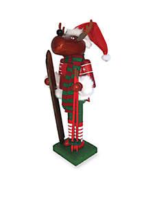 14-inch Reindeer Skier Nutcracker