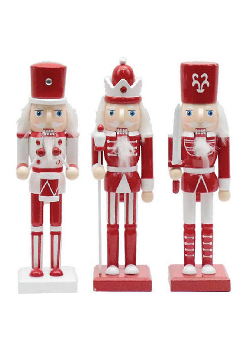 Santa's Workshop 10 Inch Assorted Red and White
