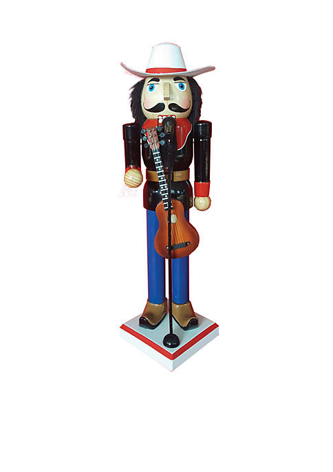 "Santa's Workshop 14"" Country Singer Nutcracker"