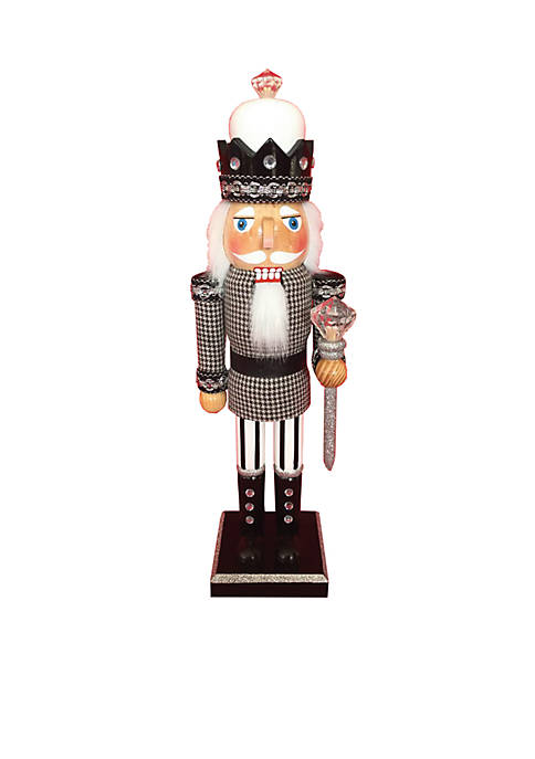 "Santa's Workshop 14"" King Houndstooth Nutcracker"