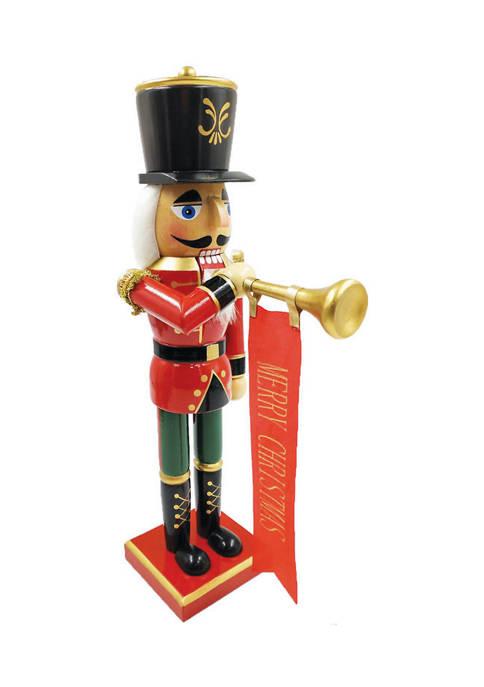Santa's Workshop 14 Inch Bugling Merry Christmas Nutcracker